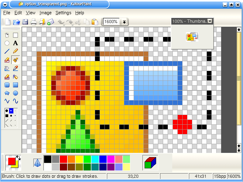 Screenshots kolourpaint the free easy to use paint Paint for linux